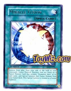 YuGiOh Cybernetic Revolution Single Card Rare CRV-EN039 Miracle Fusion