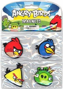 Angry Birds Flat Magnet 4-Pack