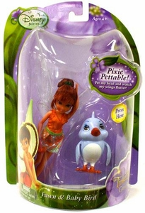 Disney Fairies Tinker Bell And The Great Fairy Rescue Fairy & Pet 4 Inch Figure 2-Pack Fawn & Babybird