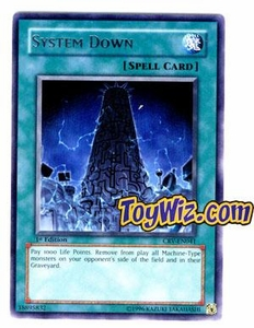 YuGiOh Cybernetic Revolution Single Card Rare CRV-EN041 System Down