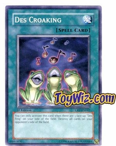 YuGiOh Cybernetic Revolution Single Card Common CRV-EN042 Des Croaking