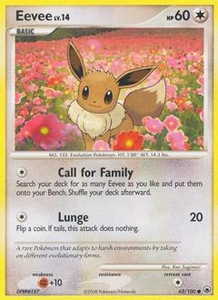 Pokemon Card Game DP Diamond & Pearl Majestic Dawn Single Card Common #62 Eevee