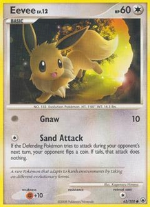 Pokemon Card Game DP Diamond & Pearl Majestic Dawn Single Card Common #63 Eevee