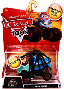 Disney / Pixar CARS TOON 1:55 Die Cast Car Oversized Vehicle Rasta Mater
