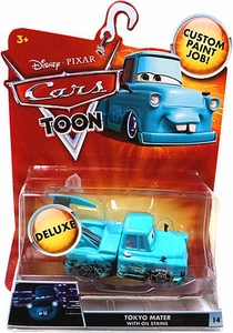 Disney / Pixar CARS TOON 1:55 Die Cast Car Oversized Vehicle Tokyo Mater with Oil Stains