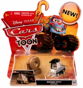 Disney / Pixar CARS TOON 1:55 Die Cast Car Referee Pitty with Bell