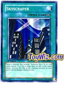 YuGiOh Cybernetic Revolution Single Card Super Rare Skyscraper CRV-EN048
