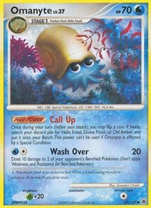 Pokemon Card Game DP Diamond & Pearl Majestic Dawn Single Card Common #69 Omanyte