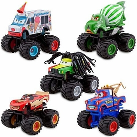 Disney / Pixar Cars Exclusive Plastic Figurine 5-Pack Set Monster Truck Mater [Tormentor {Random Color}, Frightening McMean, I-Screamer, Paddy O' Concrete & Rastacarian]