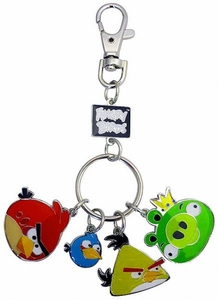 Angry Birds Metal Keychain Style 1 [Red Bird, Blue Bird, Yellow Bird & King Pig]