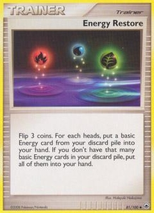 Pokemon Card Game DP Diamond & Pearl Majestic Dawn Single Card Uncommon #81 Energy Restore