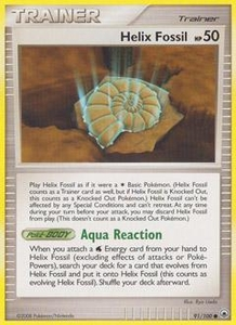Pokemon Card Game DP Diamond & Pearl Majestic Dawn Single Card Common #91 Helix Fossil
