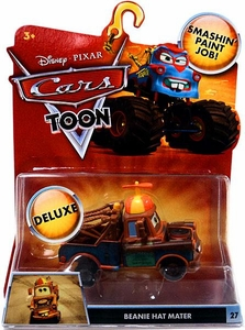 Disney / Pixar CARS TOON 1:55 Die Cast Car Oversized Vehicle Beanie Hat Mater