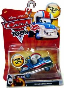 Disney / Pixar CARS TOON 1:55 Die Cast Car Oversized Vehicle Cannonball Mater [Dirty Version]