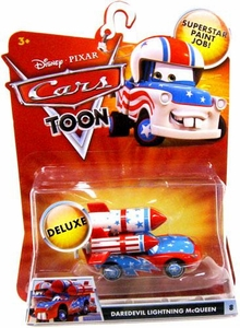 Disney / Pixar CARS TOON 1:55 Die Cast Car Oversized Vehicle Daredevil Lightning McQueen