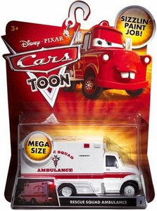 Disney / Pixar CARS TOON 1:55 Die Cast Car Oversized Vehicle Rescue Squad Ambulance