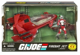 GI Joe 25th Anniversary Vehicle FireBat Jet with A.V.A.C. Action Figure