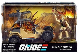 GI Joe 25th Anniversary Vehicle A.W.E. Striker with Leatherneck Action Figure