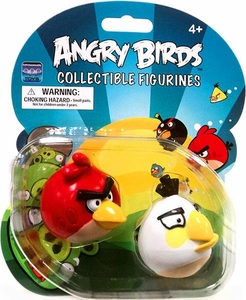 Angry Birds Collectible Figure 2-Pack Red & White Birds