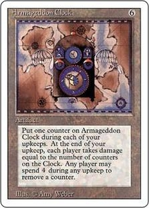 Magic the Gathering Revised Edition Single Card Rare Armageddon Clock
