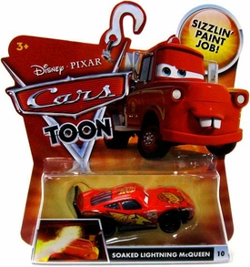 Disney / Pixar CARS TOON 1:55 Die Cast Car Soaked Lightning McQueen