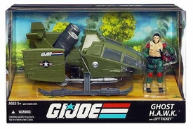 GI Joe 25th Anniversary Vehicle Ghost H.A.W.K. [Sky Hawk] with Lift Ticket Action Figure