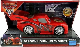 Disney / Pixar CARS TOON Deluxe Lights & Sound Figure Dragon Lightning McQueen