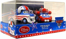 Disney / Pixar CARS TOON Exclusive 1:48 Scale Die Cast Car 2-Pack Mater The Greater [Includes Cannonball Mater & Rocket McQueen]