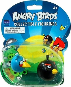 Angry Birds Collectible Figure 2-Pack Blue & Black Birds