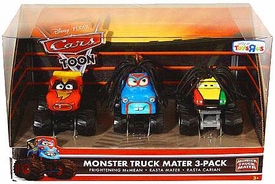 Disney / Pixar CARS TOON Exclusive Oversized Die Cast Car 3-Pack Frightening McMean, Rasta Mater & Rasta Carian