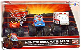 Disney / Pixar CARS TOON Exclusive Oversized Die Cast Car Monster Truck Mater 3-Pack[Frightening McMean, Tormenter & Dr. Feel Bad]