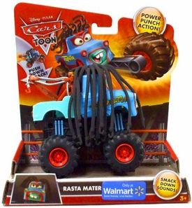 Disney / Pixar CARS TOON Exclusive Monster Truck Rasta Mater [Power Punch Action!]