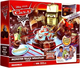 Disney / Pixar CARS TOON Ring Playset Monster Truck Wrastlin'