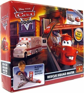 Disney / Pixar CARS TOON Playset Rescue Squad Mater Track Set