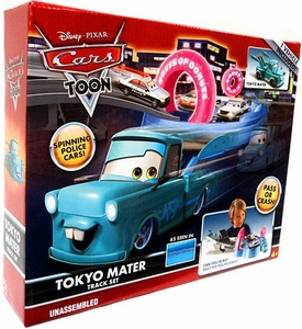 Disney / Pixar CARS TOON Playset Tokyo Mater Track Set [Includes Plastic Tokyo Mater]