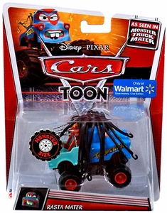 Disney / Pixar CARS TOON Exclusive 1:55 Die Cast Car Oversized Vehicle Rasta Mater