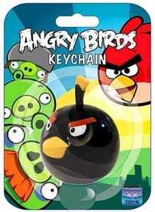 Angry Birds Figurine Keychain Black Bird
