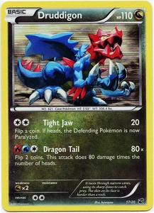 Pokemon Black & White Dragon Vault Single Card Rare Holo #17 Druddigon