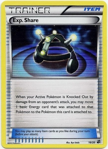 Pokemon Black & White Dragon Vault Single Card Rare Holo #18 Exp. Share