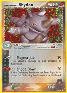 Pokemon Card Game EX Team Aqua-Team Magma Single Card Rare Holo #11 Team Magma's Rhydon