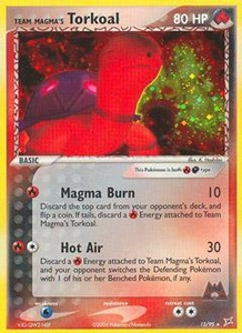 Pokemon Card Game EX Team Aqua-Team Magma Single Card Rare Holo #12 Team Magma's Torkoal