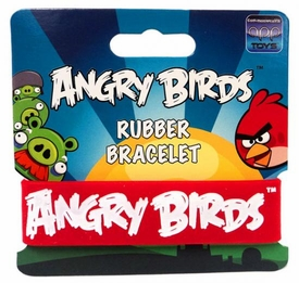 Angry Birds Rubber Bracelet White on Red