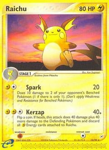 Pokemon Card Game EX Team Aqua-Team Magma Single Card Rare #13 Raichu
