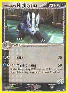 Pokemon Card Game EX Team Aqua-Team Magma Single Card Rare #15 Team Aqua's Mightyena