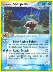 Pokemon Card Game EX Team Aqua-Team Magma Single Card Rare #18 Team Aqua's Sharpedo