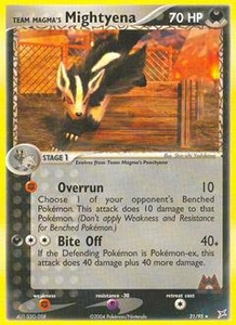 Pokemon Card Game EX Team Aqua-Team Magma Single Card Rare #21 Team Magma's Mightyena