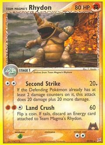 Pokemon Card Game EX Team Aqua-Team Magma Single Card Rare #22 Team Magma's Rhydon