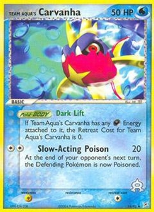 Pokemon Card Game EX Team Aqua-Team Magma Single Card Uncommon #25 Team Aqua's Carvanha