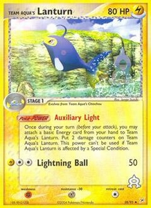 Pokemon Card Game EX Team Aqua-Team Magma Single Card Uncommon #28 Team Aqua's Lanturn
