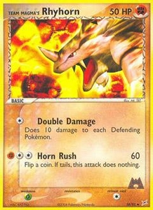 Pokemon Card Game EX Team Aqua-Team Magma Single Card Uncommon #38 Team Magma's Rhyhorn